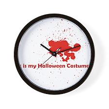 splatter-costume Wall Clock