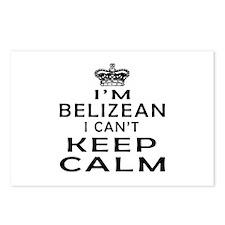 I Am Belizean I Can Not Keep Calm Postcards (Packa