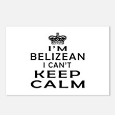 I Am Belizean I Can Not Keep Calm Postcards (Packa