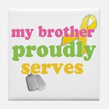 brotherserves Tile Coaster