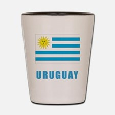 uruguay_flag Shot Glass