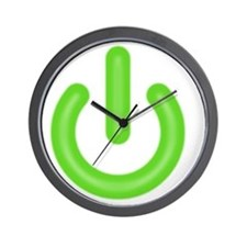 power_on_green Wall Clock