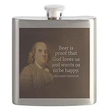 Ben Quote Beer Flask