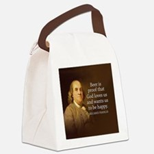 Ben Quote Beer Canvas Lunch Bag