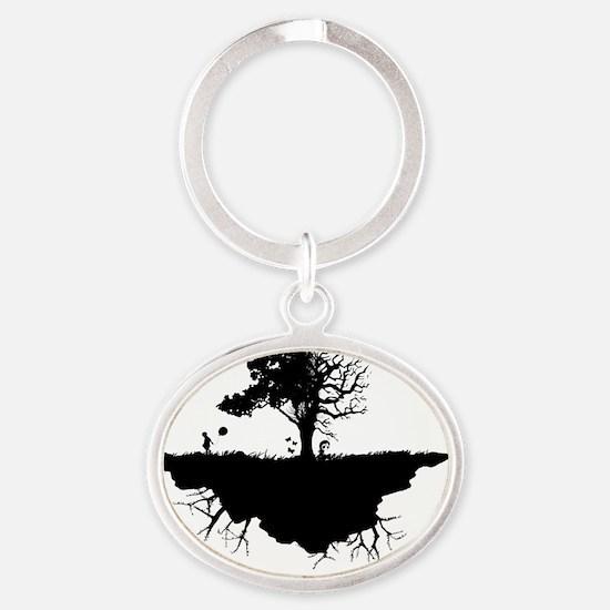 emoislandLARGE Oval Keychain