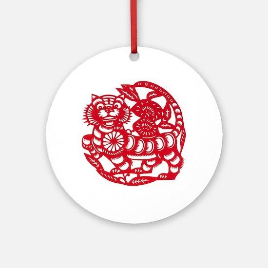 Tiger Round Ornament