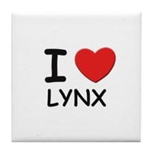 I love lynx Tile Coaster