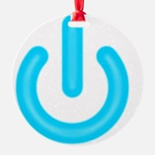 power_on_blue Ornament