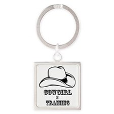 COWGIRL IN TRAINING 1 Square Keychain