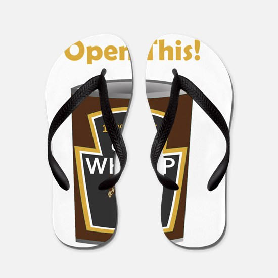 Can Of Whoop Donkey Gold Flip Flops