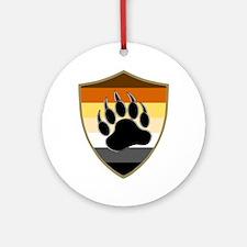 GAY BEAR PRIDE BEAR PAW SHIELD Ornament (Round)