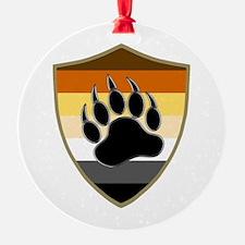 GAY BEAR PRIDE BEAR PAW SHIELD Ornament