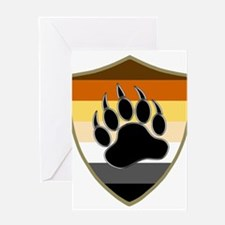 GAY BEAR PRIDE BEAR PAW SHIELD Greeting Cards