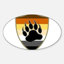GAY BEAR PRIDE BEAR PAW SHIELD Decal