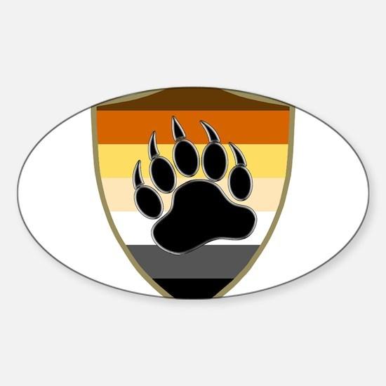 GAY BEAR PRIDE BEAR PAW SHIELD Decal