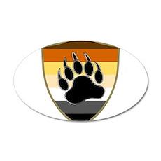 GAY BEAR PRIDE BEAR PAW SHIELD Wall Decal