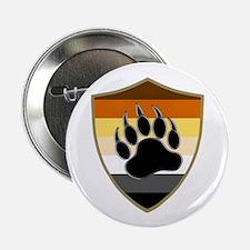 """GAY BEAR PRIDE BEAR PAW SHIELD 2.25"""" Button (10 pa"""