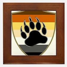 GAY BEAR PRIDE BEAR PAW SHIELD Framed Tile