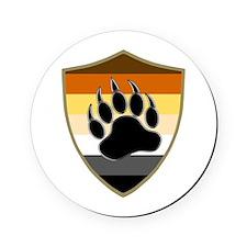 GAY BEAR PRIDE BEAR PAW SHIELD Cork Coaster