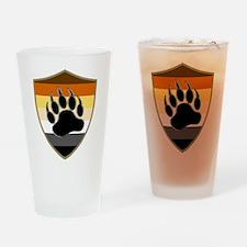 GAY BEAR PRIDE BEAR PAW SHIELD Drinking Glass
