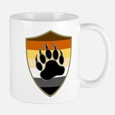 GAY BEAR PRIDE BEAR PAW SHIELD Mugs