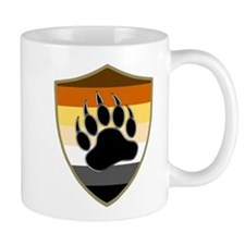 GAY BEAR PRIDE BEAR PAW SHIELD Mugs