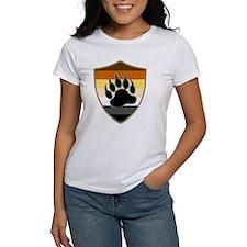GAY BEAR PRIDE BEAR PAW SHIELD T-Shirt
