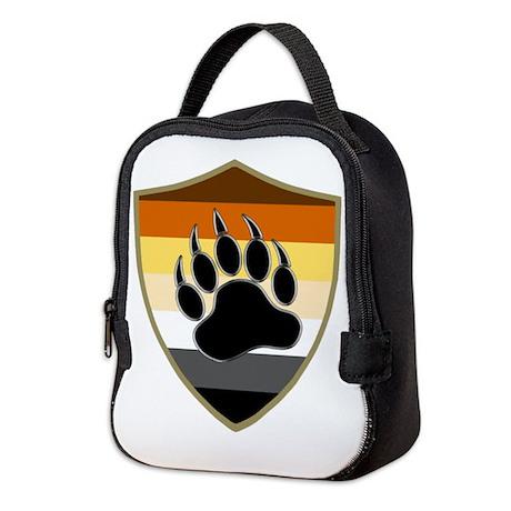 GAY BEAR PRIDE BEAR PAW SHIELD Neoprene Lunch Bag