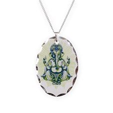 Ganesh Necklace Oval Charm
