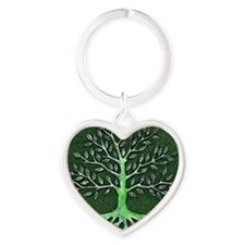 Verd Haitian Relief Tree Heart Keychain