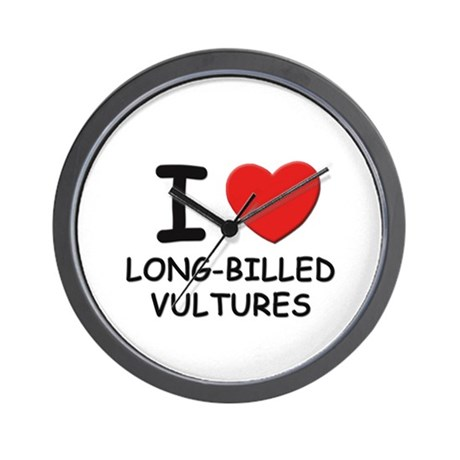 I love long-billed vultures Wall Clock