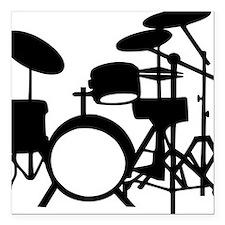"""drums Square Car Magnet 3"""" x 3"""""""