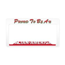 proud to be italian american License Plate Holder