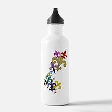 Fleur de lis t-shirts Water Bottle