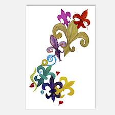 Fleur de lis t-shirts Postcards (Package of 8)