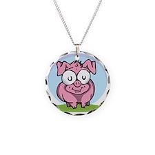 A Happy Pig Necklace