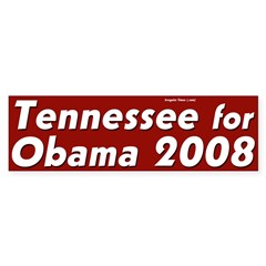 Tennessee for Obama 2008 bumper sticker