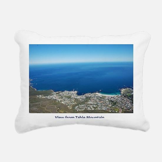 Table Mountain 4 Rectangular Canvas Pillow