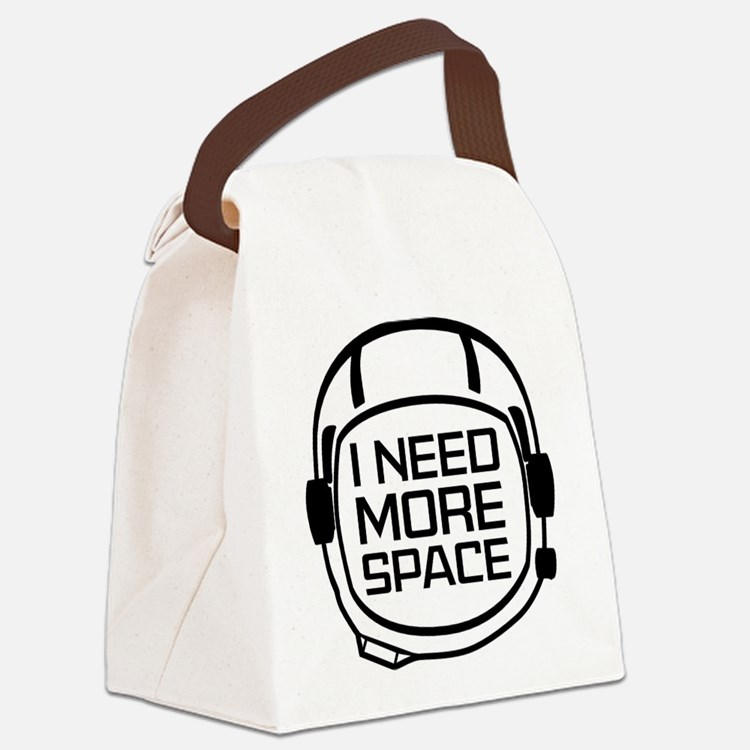 I Need More Space Canvas Lunch Bag