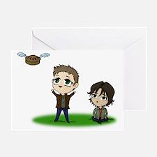 Flying Pie Greeting Card