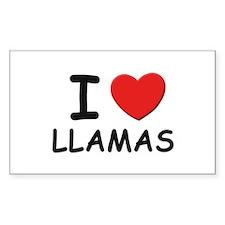 I love llamas Rectangle Decal