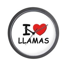 I love llamas Wall Clock