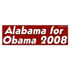 Alabama for Obama 2008 bumper sticker