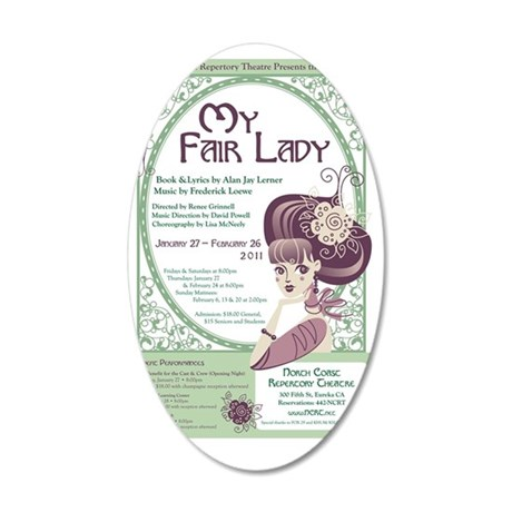 my-fair-lady-poster 35x21 Oval Wall Decal