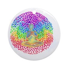 Meditate lg Round Ornament
