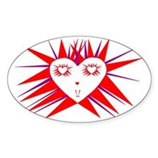 2-Radiant Heart Decal