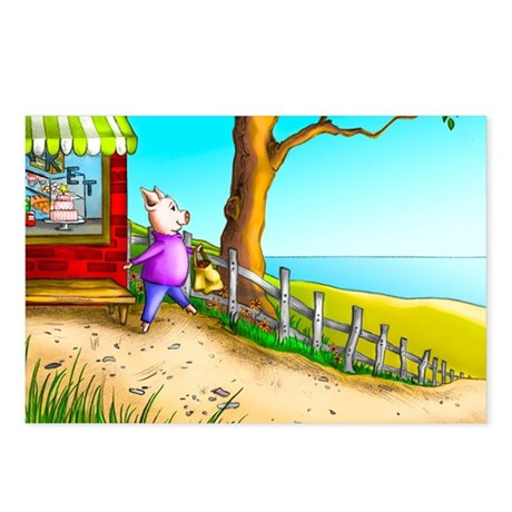 Piggy Went to the Market Postcards (Package of 8)