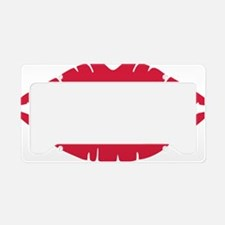 kiss_lips License Plate Holder
