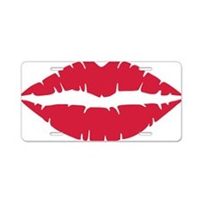 kiss_lips Aluminum License Plate