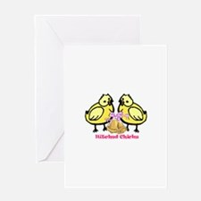 Hitched Chicks Greeting Cards
